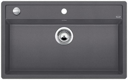 Blanco Dalago 8 MX Kjøkkenvask 81,5x51 cm, m/kurvventil, Silgranit Klippegrå