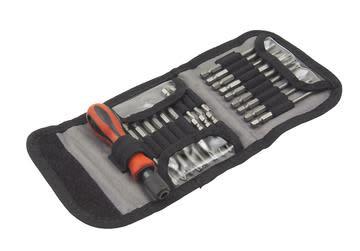 Worker bitssett med lange bits - 22 deler