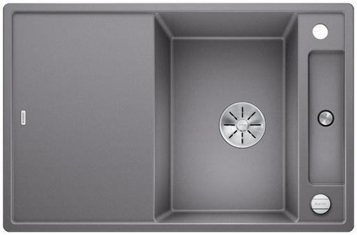 Blanco Axia 45S MXI Kjøkkenvask 78x51 m/InFino kurvventil, Silgranit Aluminium