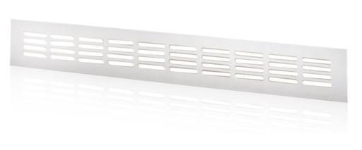Duka ventilationsrist - 400x60 mm, hvit