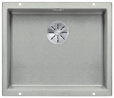 Blanco Subline 500-U UXI Kjøkkenvask 53x46 cm m/InFino kurvventil, Silgranit Perlegrå