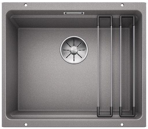 Blanco Etagon 500-U UXI Kjøkkenvask 53x46 cm/InFino kurvventil, Silgranit Aluminium