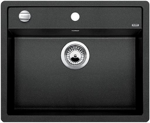 Blanco Dalago 6 MX, Kjøkkenvask 61,5x51 cm, m/kurvventil, Silgranit Antrasittgrå