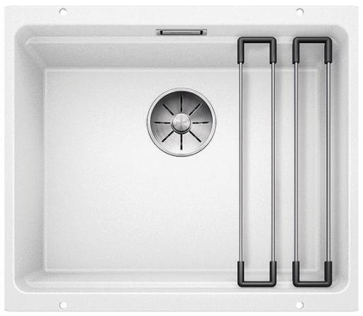 Blanco Etagon 500-U UXI Kjøkkenvask 53x46 cm/InFino kurvventil, Silgranit Hvit