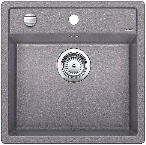 Blanco Dalago 5 MX Kjøkkenvask 51,5x51 cm m/kurvventil, Silgranit Aluminium