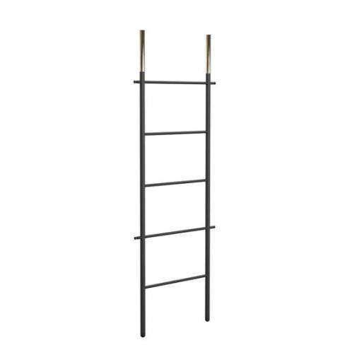 Frost Bukto Ladder Håndklestativ 58x151,5 cm, Sort/Gull