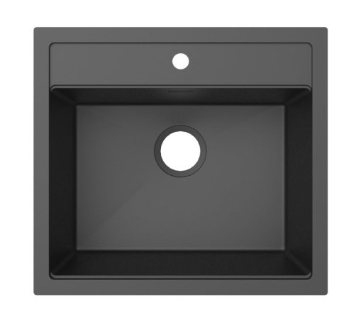 Prisma Washington Kjøkkenvask 56x51 cm m/Kurvventil, Granitek