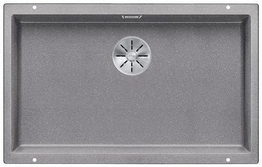 Blanco Subline 700-U UXI Kjøkkenvask 73x46 cm m/InFino kurvventil, Silgranil Aluminium