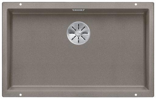 Blanco Subline 700-U UXI Kjøkkenvask 73x46 cm m/InFino kurvventil, Silgranil Trøffel