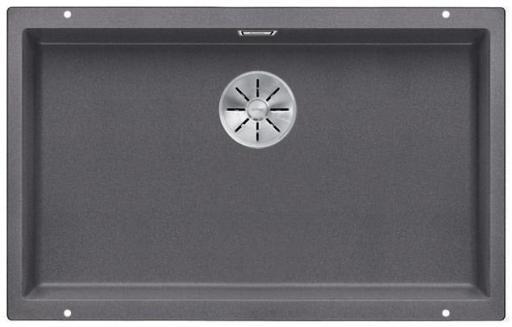 Blanco Subline 700-U UXI Kjøkkenvask 73x46 cm m/InFino kurvventil, Silgranil Klippegrå