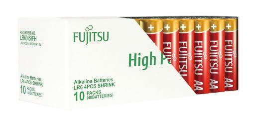 Fujitsu High Power AA Alkaline Batterier - 40 stk.