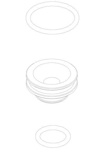 Damixa adater med O-ring