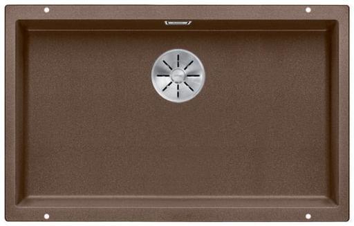 Blanco Subline 700-U UXI Kjøkkenvask 73x46 cm m/InFino kurvventil, Silgranil Muskat