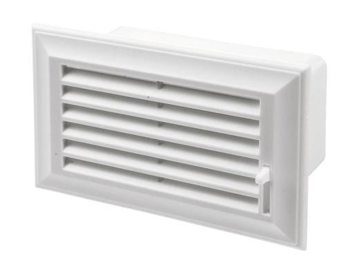 Duka lamelldeksel til flatkanal 110 x 55 mm, hvit plass