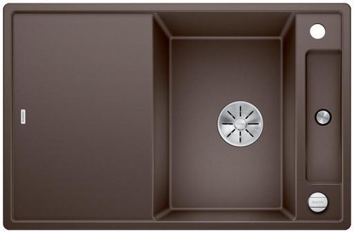 Blanco Axia 45S MXI Kjøkkenvask 78x51 m/InFino kurvventil, Silgranit Kaffe