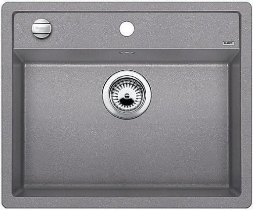Blanco Dalago 6 MX, Kjøkkenvask 61,5x51 cm, m/kurvventil, Silgranitt Aluminium