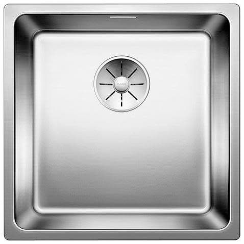 Blanco Andano 400-IF/N UXI Kjøkkenvask 44x44 cm, m/InFino kurvventil, Rustfritt stål