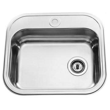 Intra K480B1 Kjøkkenvask 55x48 cm, m/Kurvventil, Rustfritt stål