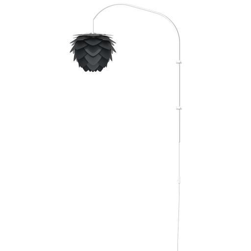 UMAGE Aluvia Mini Vegglampe med hvitt stativ, Antrasit