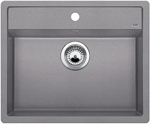 Blanco Dalago 6 UX, Kjøkkenvask 61,5x51 cm, m/kurvventil, Silgranitt Aluminium