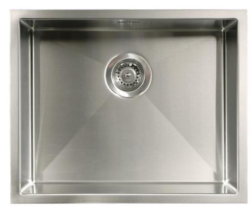 Intra Quadra 500 Kjøkkenvask 54,6x44,6 cm, m/Kurvventil, Rustfritt stål