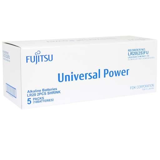 Fujitsu Univeral Power D Alkaline Batterier - 10 stk.
