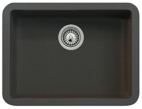 Intra Solido N100 Kjøkkenvask 449x325 mm, m/kurvventil, Cristalite, Onyx Sort