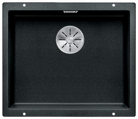 Blanco Subline 500-U UXI Kjøkkenvask 53x46 cm m/InFino kurvventil, Silgranit Antrasittgrå