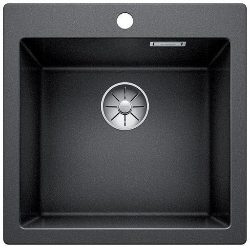 Blanco Pleon 5 UXI Kjøkkenvask 51,50x51 cm m/InFino Kurvventil, Silgranit Antrasittgrå