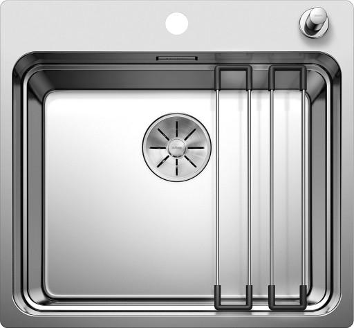 Blanco Etagon 500-IF MXI Kjøkkenvask 54x50 cm m/InFino kurvventil, Rustfritt Stål