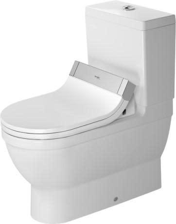 Duravit Starck 3 gulvstående toalett, uten sisterne og sete.