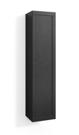 Svedbergs høyskap, 40x172x35 cm, Sort eik ramme