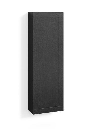 Svedbergs høyskap, 40x123x20 cm, Sort eik ramme