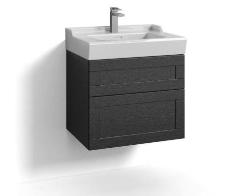 Svedbergs Stil Møbelpakke 60 x 45 cm m/skuffer & vask, Sort eik