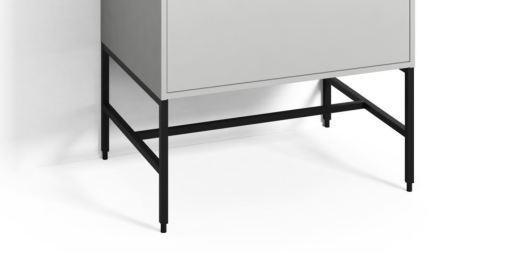 Svedbergs Benstativ til DK Møbelpakke 60 x 45 cm, Sort - Mellomhøy
