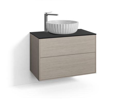 Svedbergs DK Møbelpakke, 80 cm, m/Fyn Ovenpåliggende Servant & 2 skuffer - Blond eik