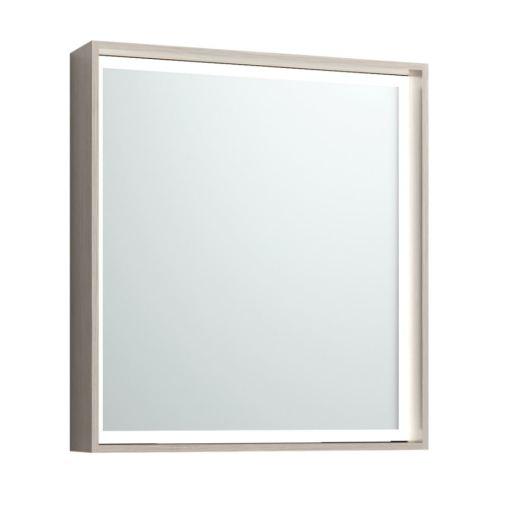 Svedbergs DK Speil med LED lys 62x68 cm, Lys eik