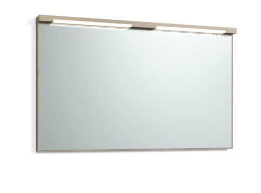 Svedbergs Top-mirror speil med LED-belysning, 120 cm, Lys eik