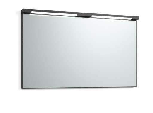 Svedbergs Top-mirror speil med LED-belysning, 120 cm, Sort eik