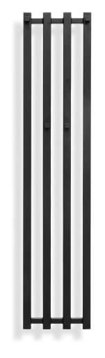 Svedbergs Zaga håndkletørker 26x120 cm, Matt Sort