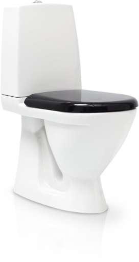 Svedbergs Toalett gulvstående m/skjult S-lås & Sort Soft-Close