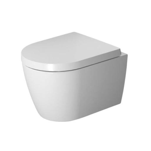 Duravit ME by Starck Rimless Compact hengeskål m/Skjult montering & SoftClose Toalettsete - 360x480 mm