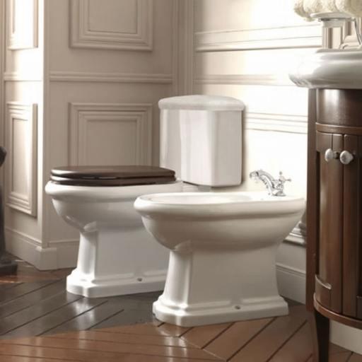 Lavabo Retro Monoblocco gulvstående toalett m/S-lås - 720x450 mm