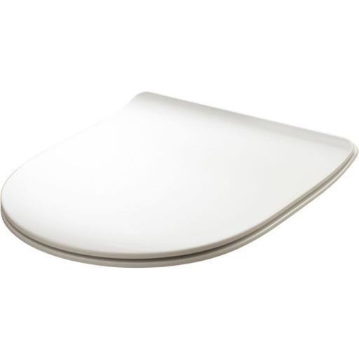 Lavabo Flo Slim toalettsete m/Soft-close, Hvit - Gulvstående
