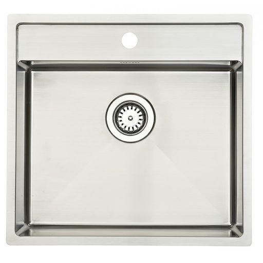 Lavabo Kubus 520 soft Kjøkkenvask 53x50 cm, m/Kurvventil, Rustfritt Stål