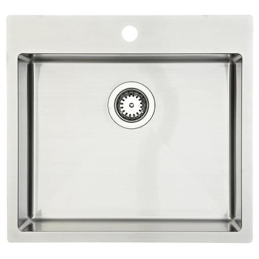 Lavabo Kubus 540 soft Kjøkkenvask 54x50 cm, m/Kurvventil, Rustfritt Stål