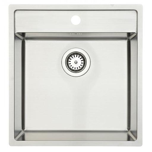 Lavabo Nexus 50 Kjøkkenvask 48x51 cm, m/Kurvventil, Rustfritt Stål