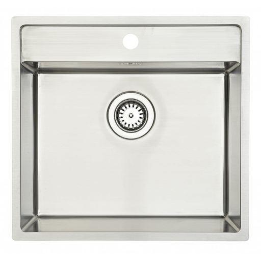 Lavabo Nexus 60 Kjøkkenvask m/armaturhull og kurvventil 53x50 cm, Rustfritt Stål