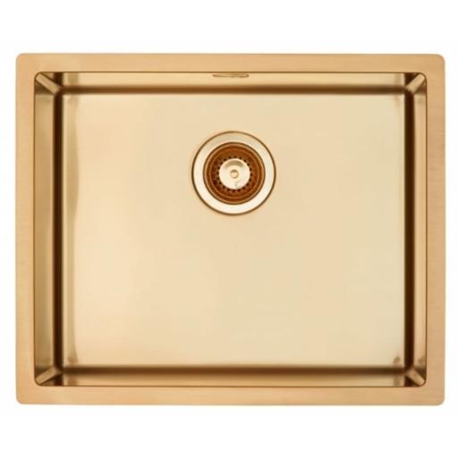 Lavabo Quadrix Kjøkkenvask 55x45 cm, m/Kurvventil, Bronze look