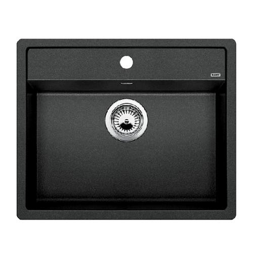 Blanco Dalago 6 UX, Kjøkkenvask 61,5x51 cm, m/kurvventil, Silgranitt Antrasittgrå